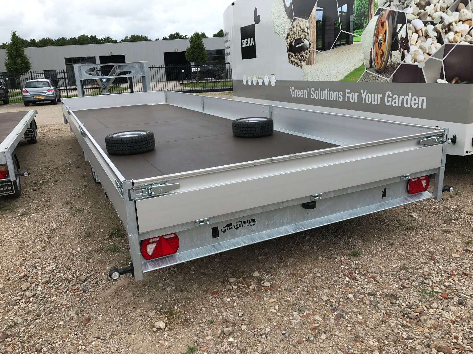 Fifthwheel, BE oplegger, vlakke trailer